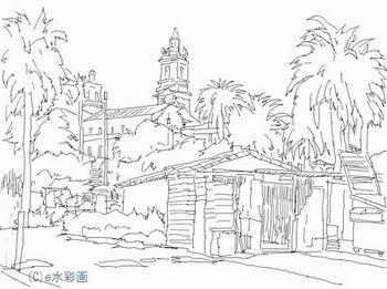 150426サンタバーバラ(下描き).jpg